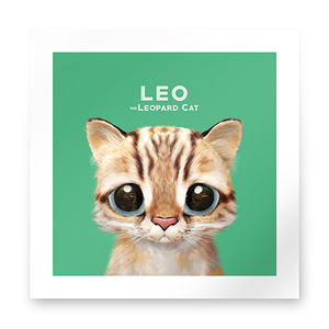 Leo the Leopard cat Art Print