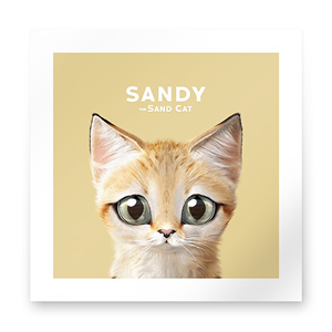 Sandy the Sand cat Art Print