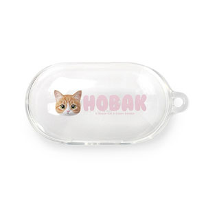 Hobak the Cheese Tabby Face Buds TPU Case