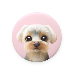 Sarang the Yorkshire Terrier Mirror Button 75mm