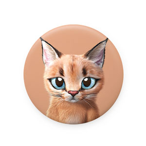 Cali the Caracal Mirror Button