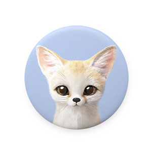 Denny the Fennec fox Mirror Button