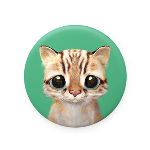 Leo the Leopard cat Mirror Button