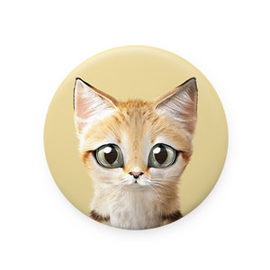 Sandy the Sand cat Mirror Button