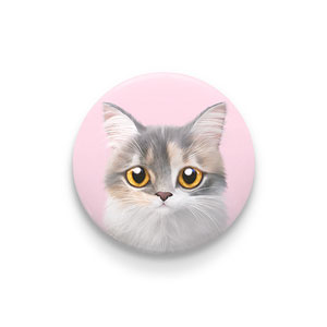 Bori the Munchkin Cat Pin Button 44mm