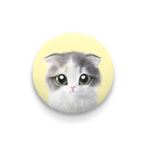 Joy the Kitten Pin Button 44mm