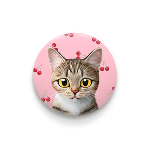 Gisele's Cherry Pin Button