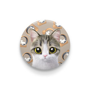 Kung's Cat Wheel Pin Button