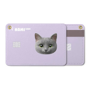 Nami the Russian Blue Face Card Holder