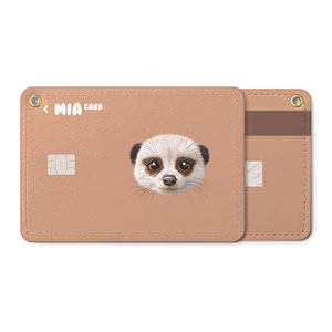 Mia the Meerkat Face Card Holder