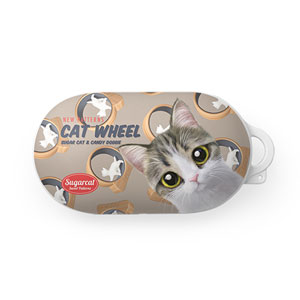 Kung's Cat Wheel New Patterns Buds Hard Case