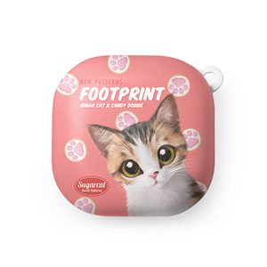 Ddakzi the Kitten's Footprint Cookies New Patterns Buds Live Hard Case