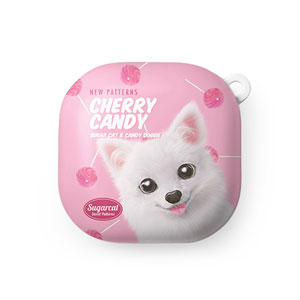 Dubu the Spitz's Cherry Candy New Patterns Buds Live Hard Case