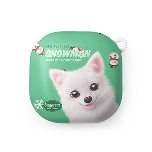 Dubu the Spitz's Snowman New Patterns Buds Live Hard Case