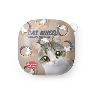 Kung's Cat Wheel New Patterns Buds Live Hard Case
