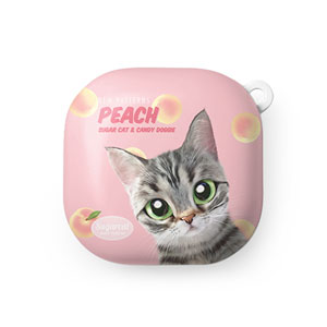 Momo the American shorthair cat's Peach New Patterns Buds Live Hard Case