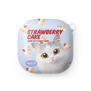 Rangi the Norwegian forest's Strawberry Cake New Patterns Buds Live Hard Case