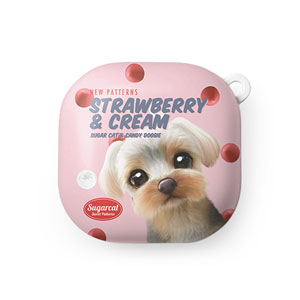 Sarang the Yorkshire Terrier's Strawberry & Cream New Patterns Buds Live Hard Case