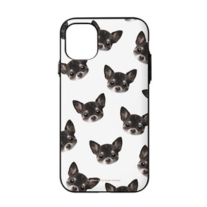Leon the Chihuahua Face Patterns Door Bumper Case