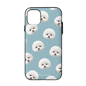 Dongle the Bichon Face Patterns Door Bumper Case