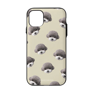 Earlgray the Poodle Face Patterns Door Bumper Case