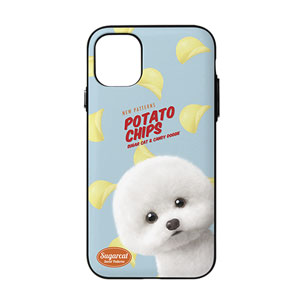 Dongle the Bichon's Potato Chips New Patterns Door Bumper Case