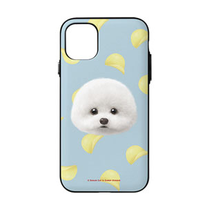 Dongle the Bichon's Potato Chips Face Door Bumper Case