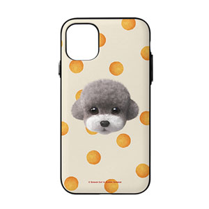 Earlgray the Poodle's Cheese Ball Face Door Bumper Case