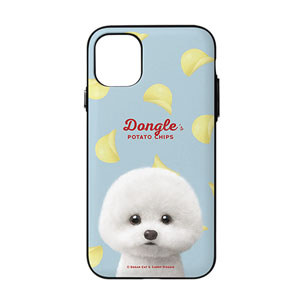 Dongle the Bichon's Potato Chips Door Bumper Case