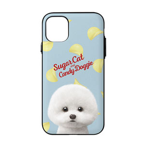 Dongle the Bichon's Potato Chips Script Logo Door Bumper Case