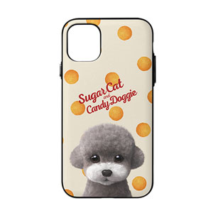 Earlgray the Poodle's Cheese Ball Script Logo Door Bumper Case