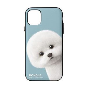 Dongle the Bichon Peekaboo Door Bumper Case