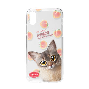 Rose's Peach New Patterns Clear Jelly Case
