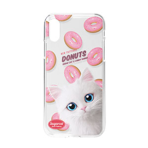 Venus's Donuts New Patterns Clear Jelly Case