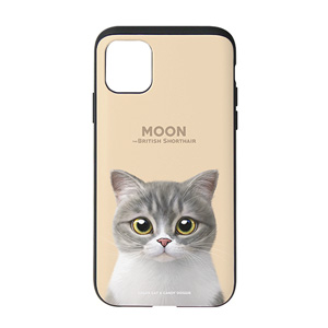 Moon the British Cat Slide Case