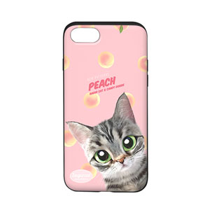 Momo the American shorthair cat's Peach New Patterns Slide Case