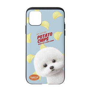 Dongle the Bichon's Potato Chips New Patterns Slide Case