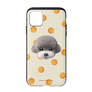 Earlgray the Poodle's Cheese Ball Face Slide Case