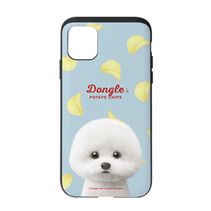 Dongle the Bichon's Potato Chips Slide Case