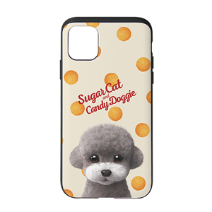 Earlgray the Poodle's Cheese Ball Script Logo Slide Case
