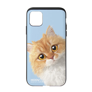 Hodu the Selkirk Rex Peekaboo Slide Case