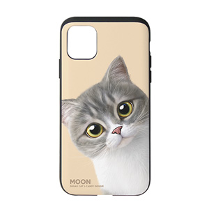 Moon the British Cat Peekaboo Slide Case