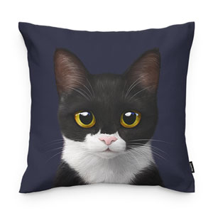 Byeol the Tuxedo Cat Throw Pillow