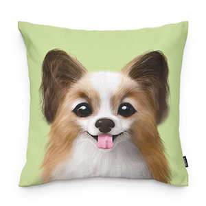 Jerry the Papillon Throw Pillow