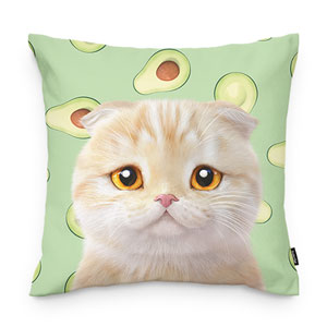 Achi's Avocado Throw Pillow