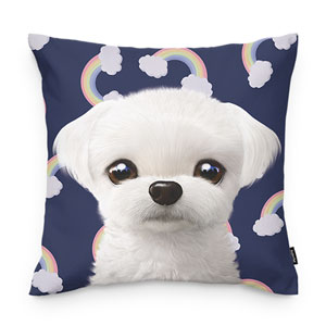 Chichi's Rainbow Throw Pillow