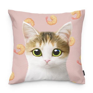 Dari's Fried Shrimp Throw Pillow