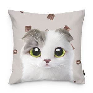 Duna's Choco Cereal Throw Pillow