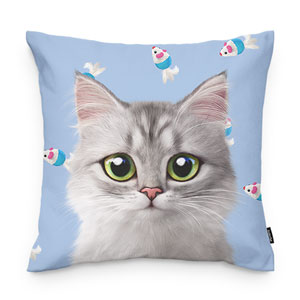 Jupiter's Mouse Toy Throw Pillow