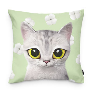 Moki's Cotton Flower Throw Pillow